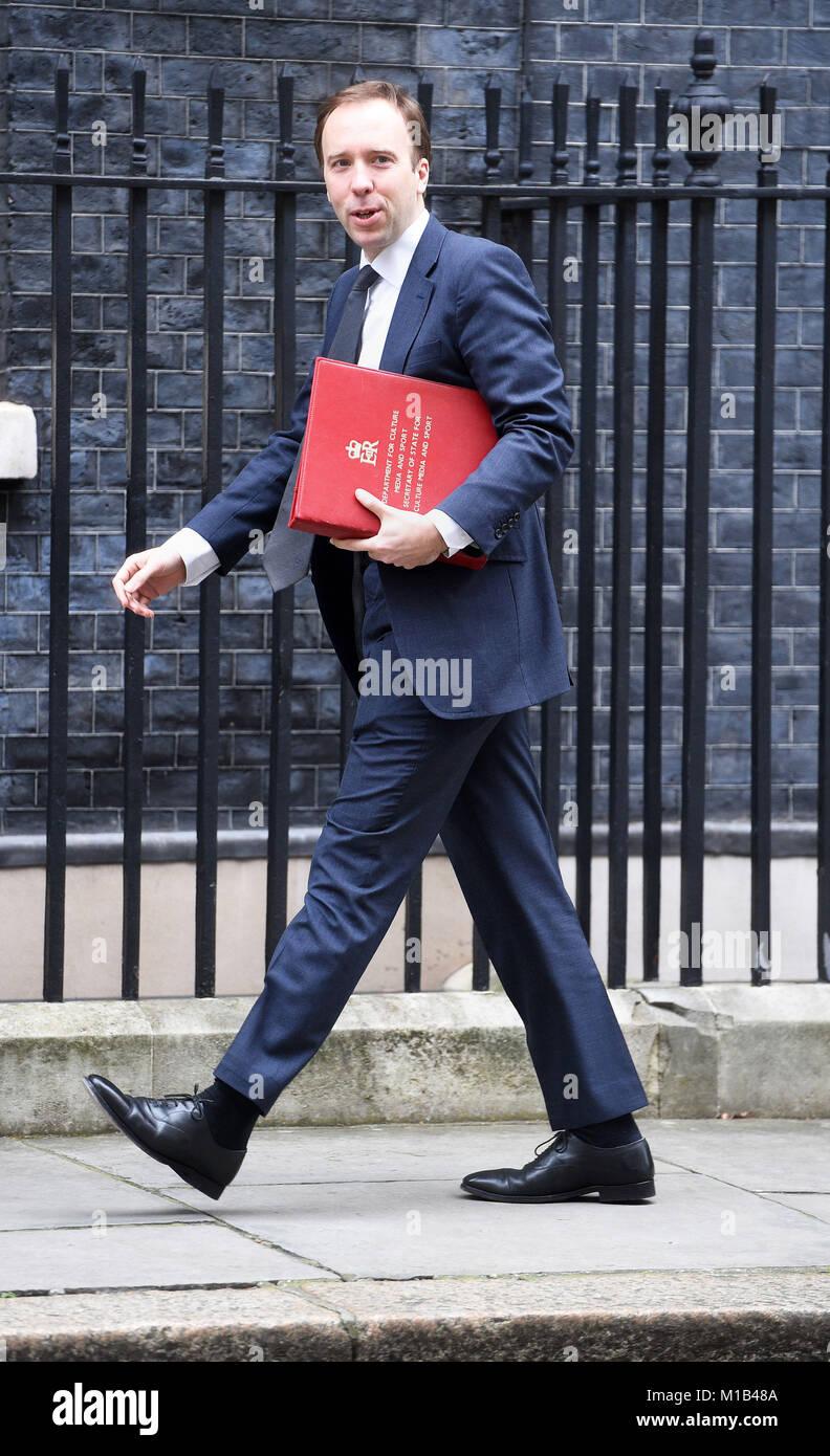 Digital, Culture, Media And Sport Secretary Matt Hancock Arriving In  Downing Street, London, For A Political Cabinet Meeting