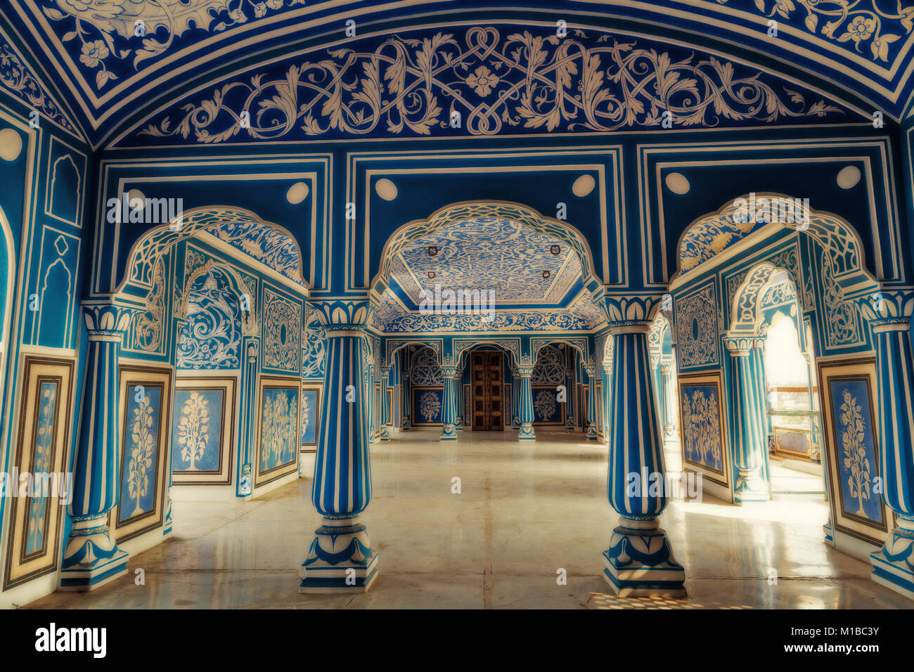 jaipur city palace interior stock photos jaipur city palace interior stock images alamy. Black Bedroom Furniture Sets. Home Design Ideas