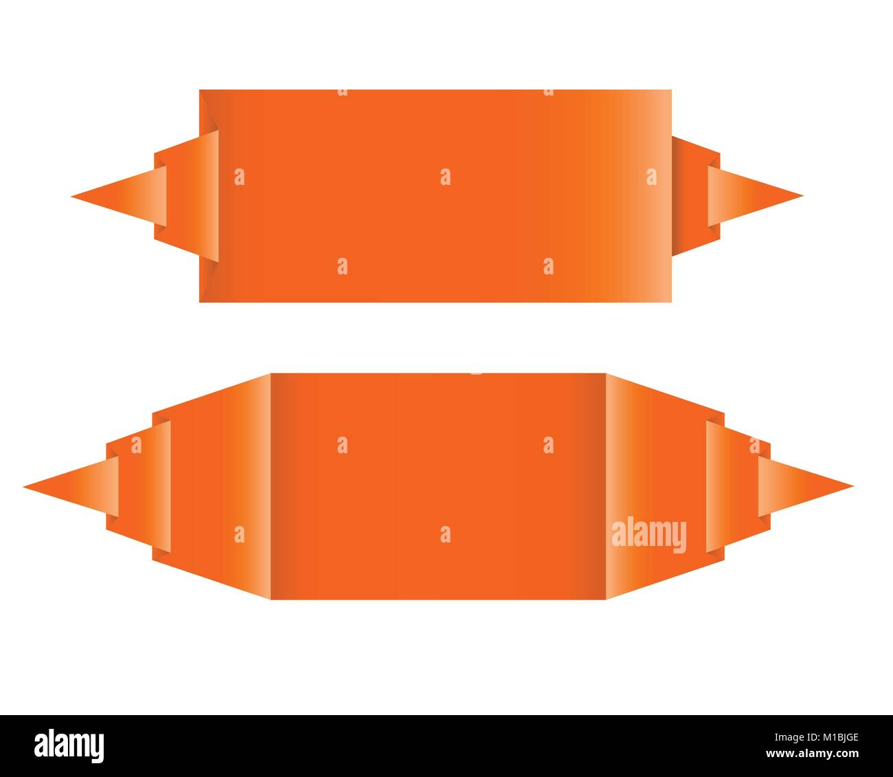 Origami Orange Diagram Wire Data Schema Advanced Fox Instructions Paper Speech Bubbles Or Labels With Bent Corner As Rh Alamy Com Star Complex Diagrams