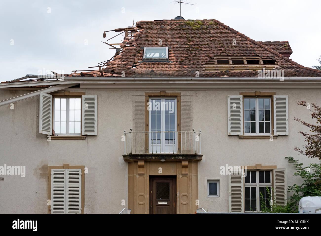Freiburg Villa demolition of villa in freiburg germany stock photo royalty