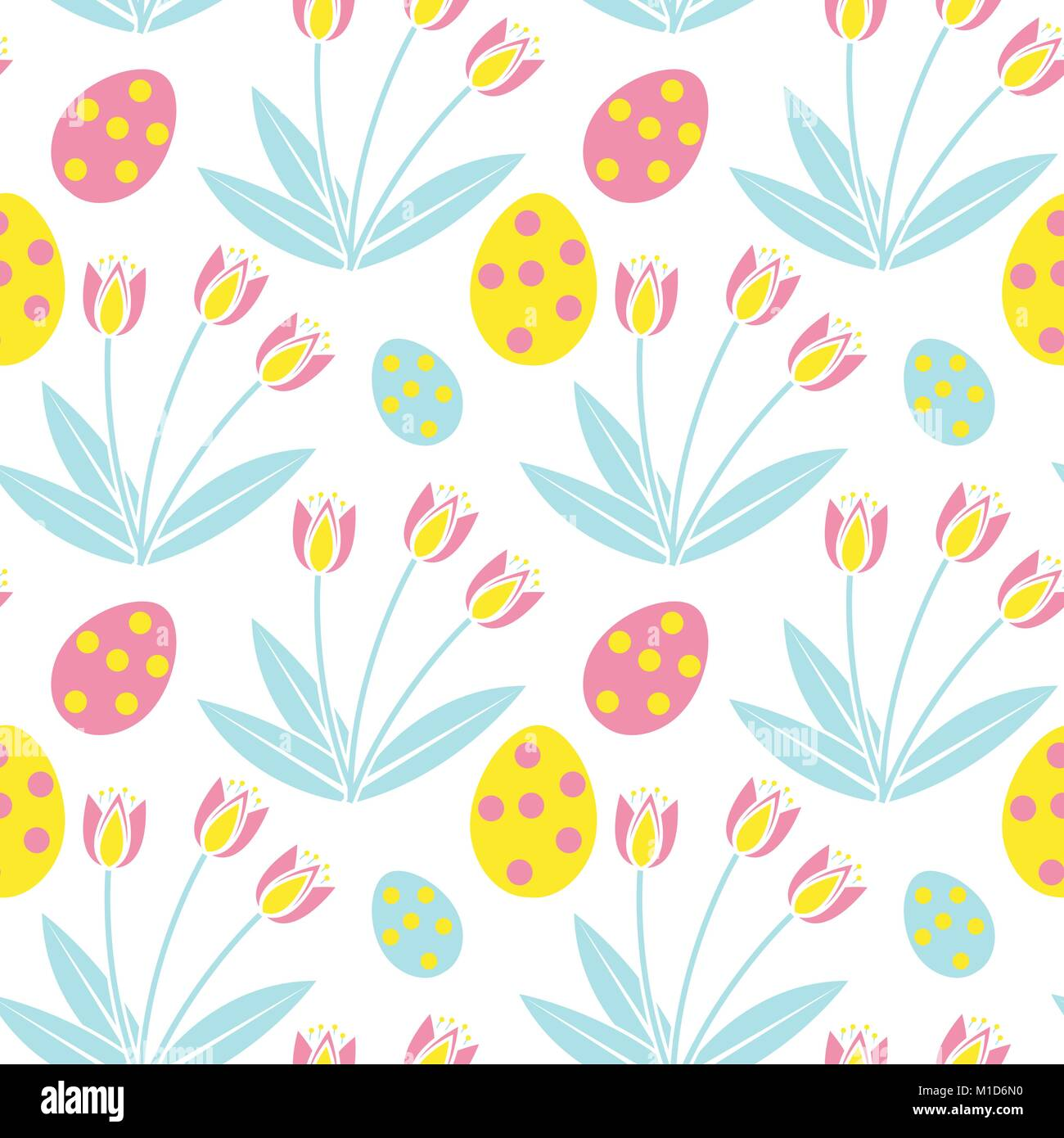 cute easter seamless pattern. spring repeating textures. children's