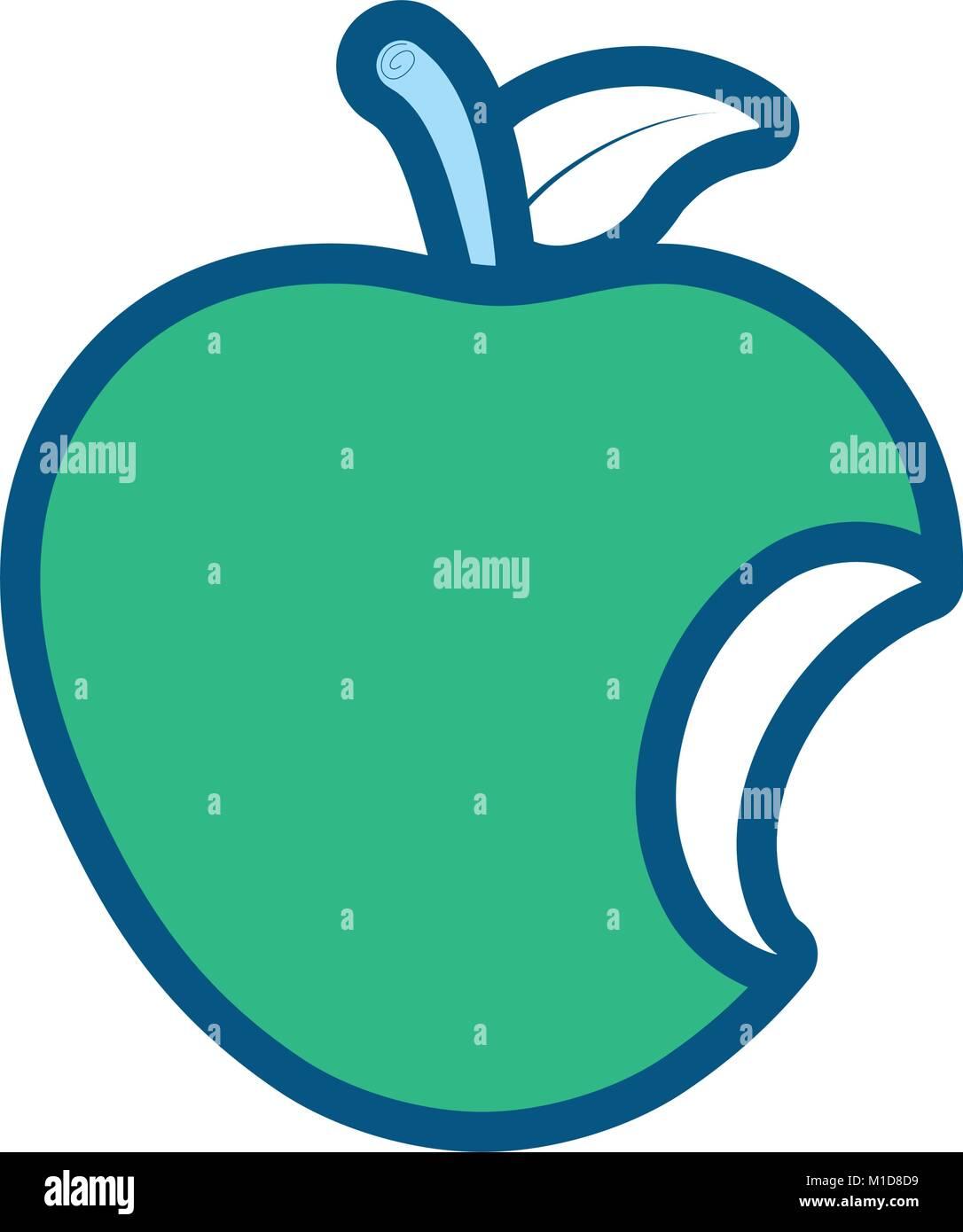 Bitten apple stock vector images alamy apple vector illustration stock vector buycottarizona