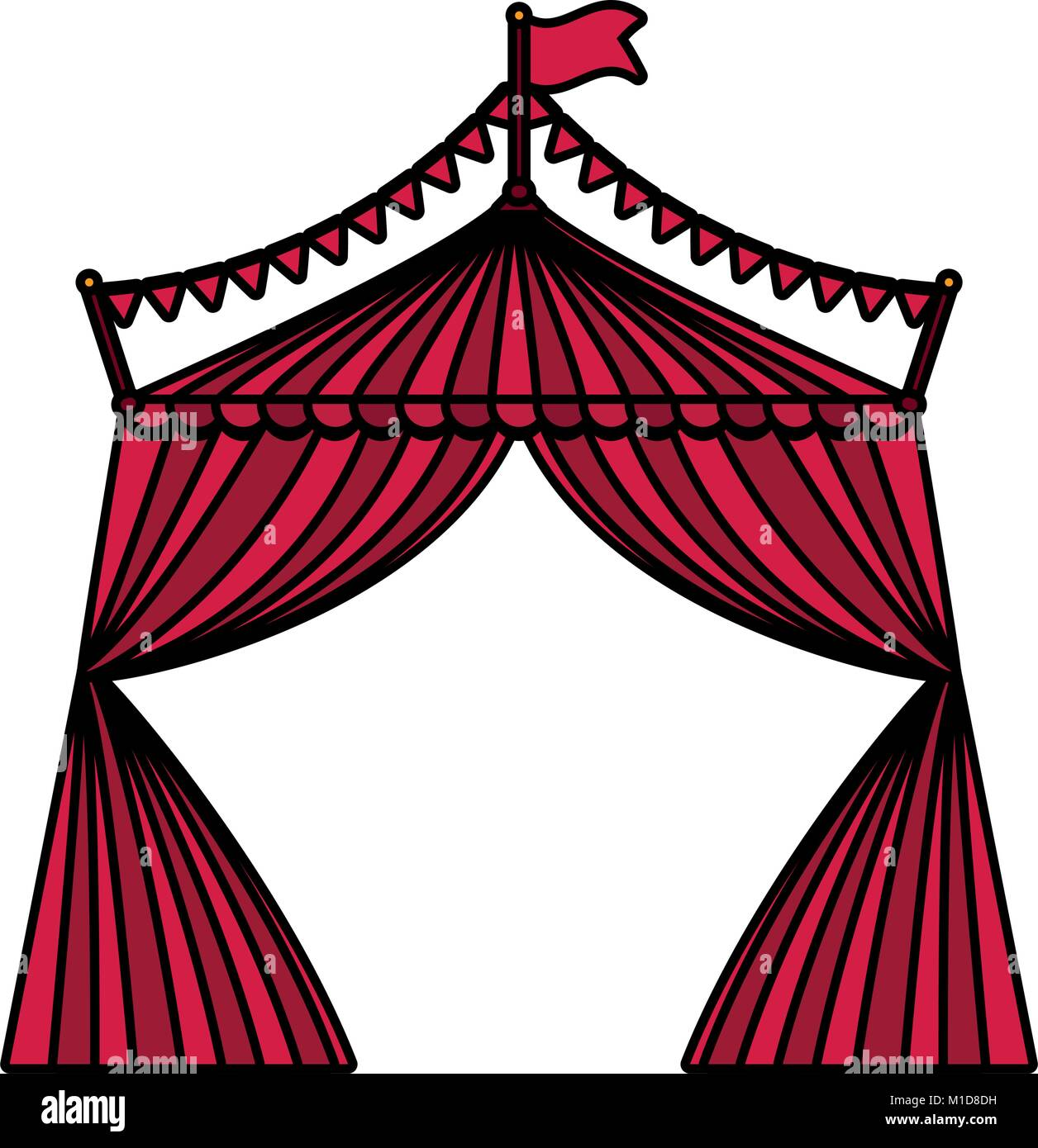 circus tent design  sc 1 st  Alamy & circus tent design Stock Vector Art u0026 Illustration Vector Image ...