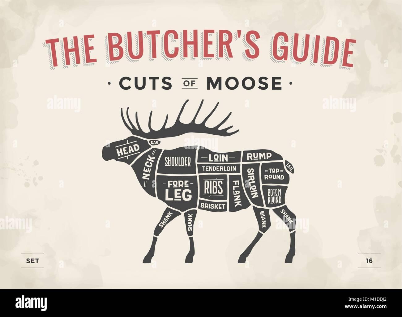 diagram of moose cuts diagram of parts of toilet