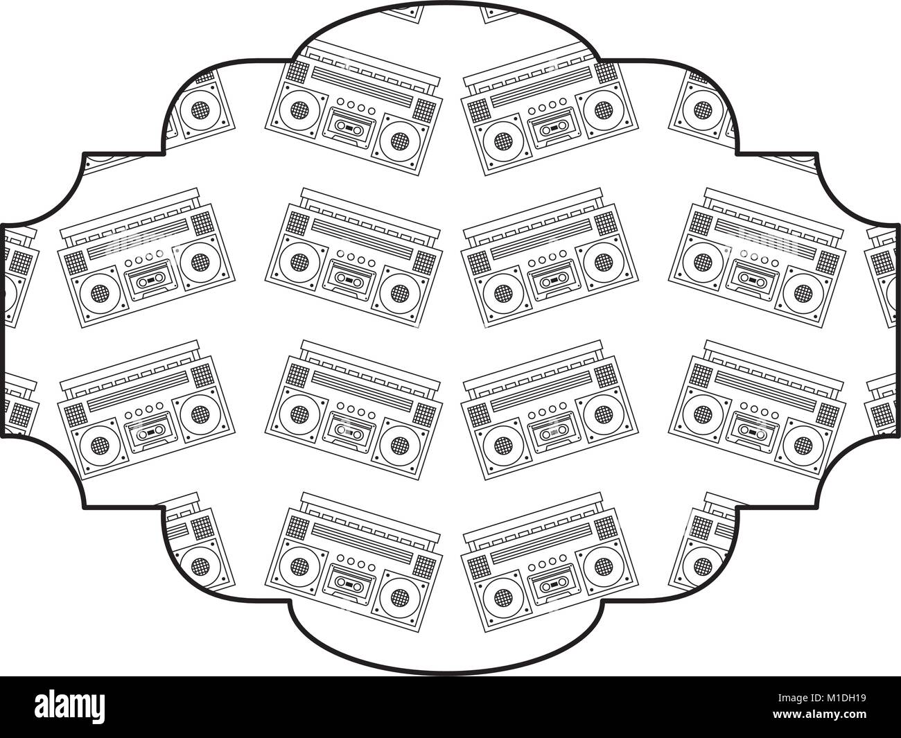 Diagram Of A Recorder That Is Label Wiring And Ebooks Measuring Tape Pattern Vintage Stereo Player Vector Illustration Rh Alamy Com On