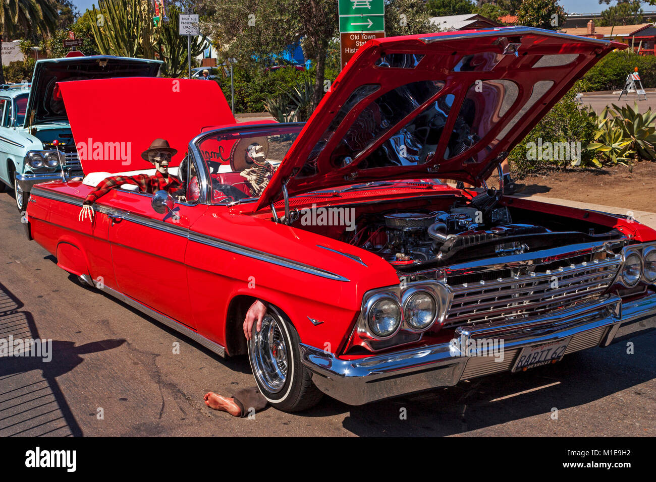 San Diego,CA - May 03,2014:Exhibit of old American classic retro ...