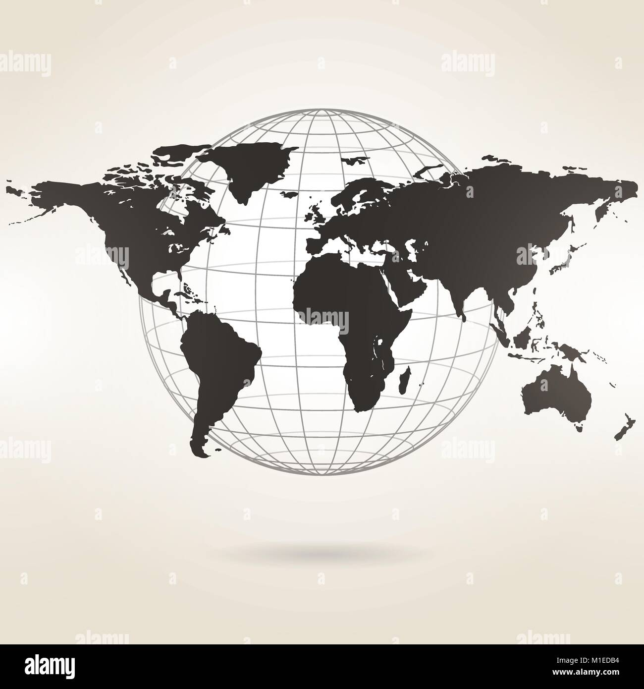 World map on a light background stock vector art illustration world map on a light background sciox Image collections