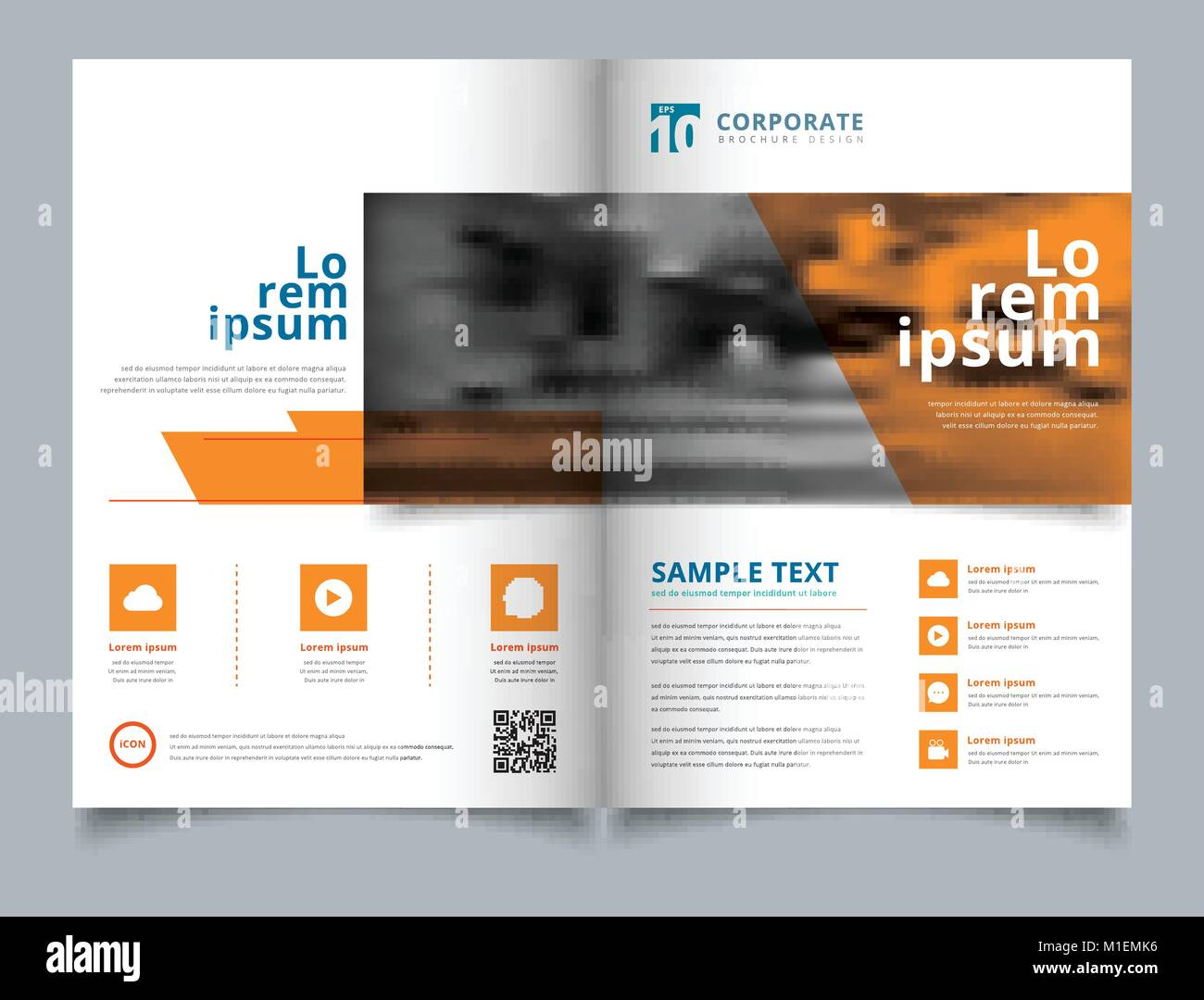 brochure geometric layout design template annual report leaflet