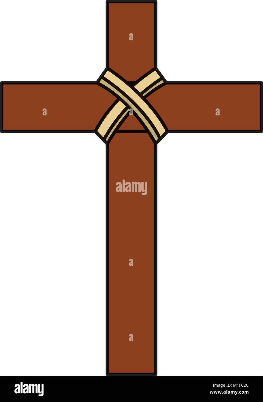 Religious wooden cross christianity symbol stock vector art religious wooden cross christianity symbol biocorpaavc Gallery