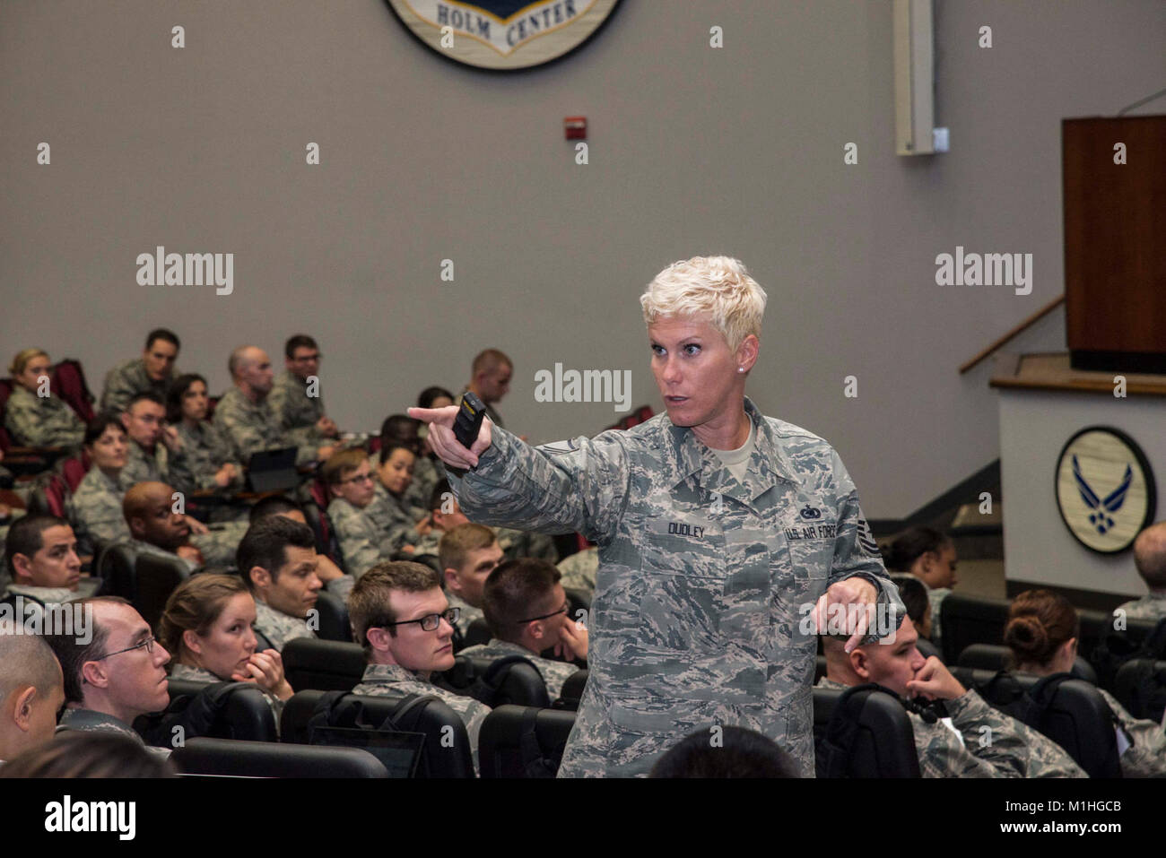 Master sgt tiffany dudley officer training school military training stock photo royalty free - Military officer training school ...