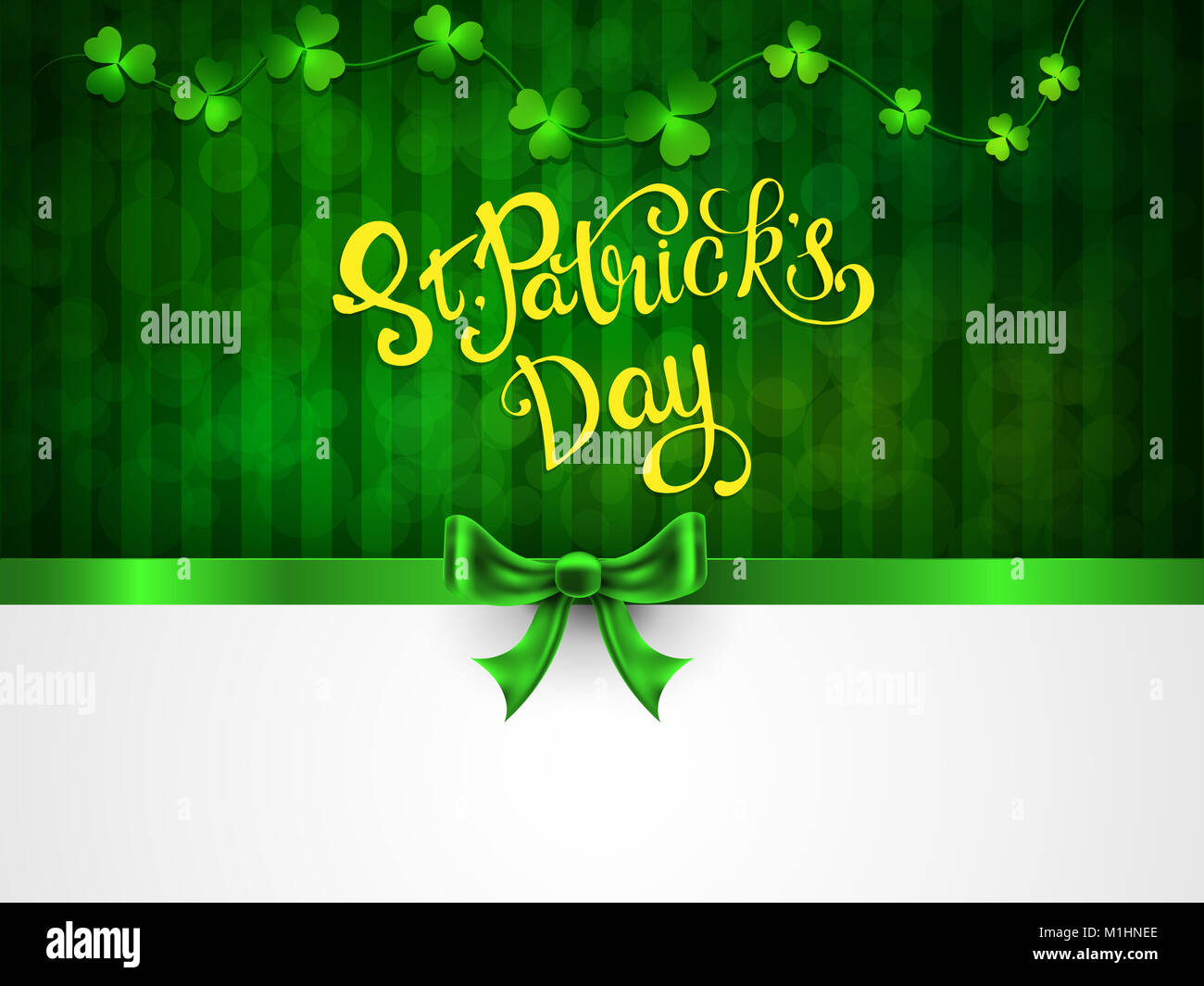 St Patricks Day Greeting Card With A St Patricks Day Stock