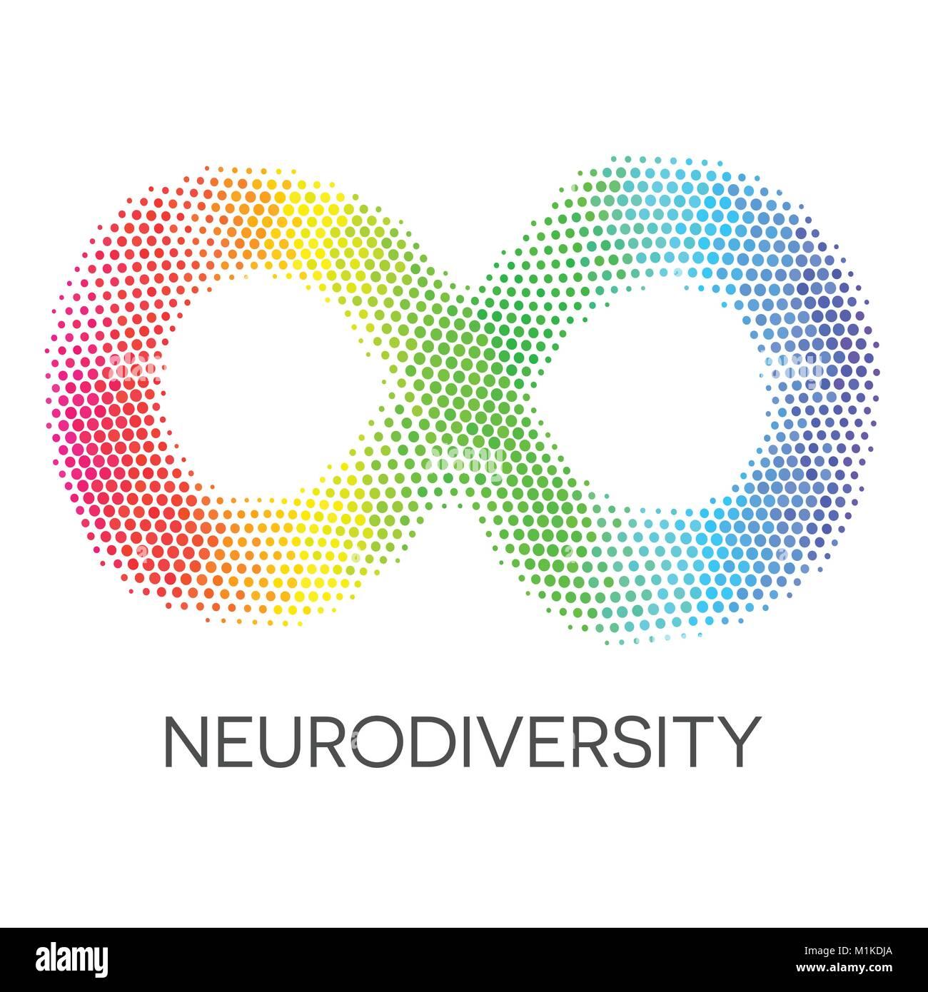 Rainbow Infinity Sign Colorful Symbol Of Neurodiversity Stock