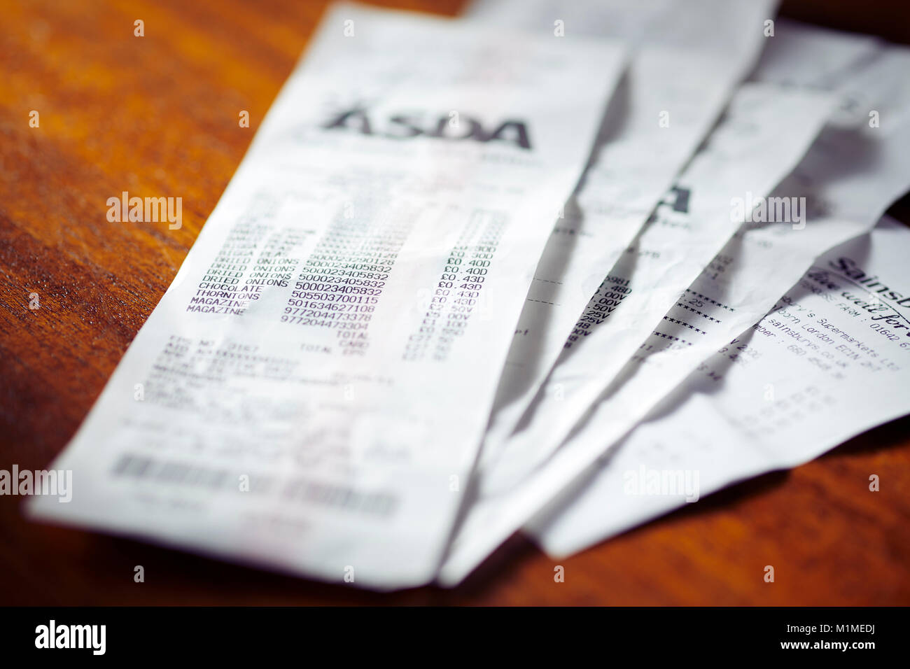 close up of till receipts stock photo 173168734 alamy