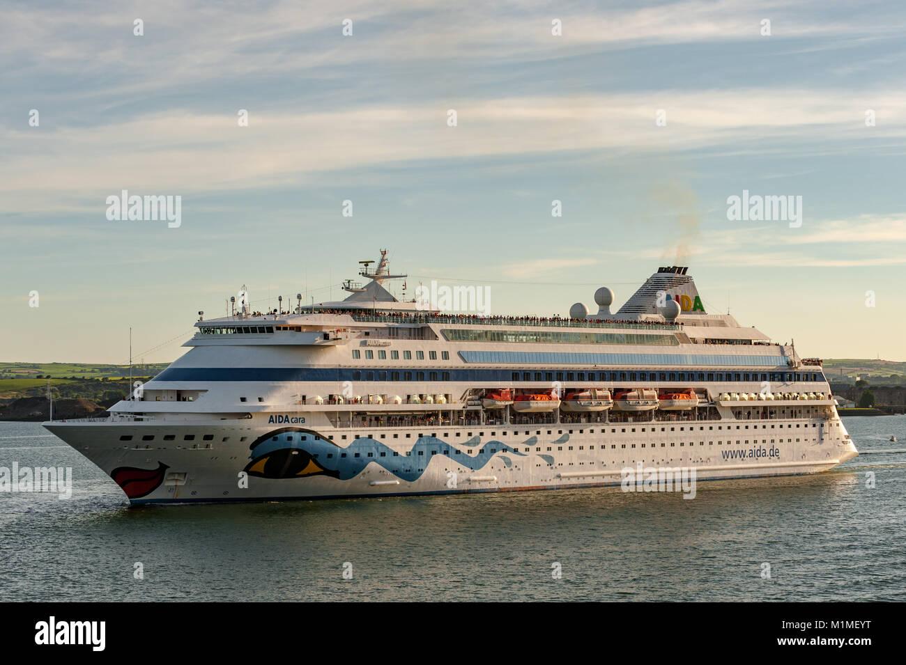 Cruise Ship AIDAcara Sails Through Cobh County Cork Ireland On - Cruise ship ireland