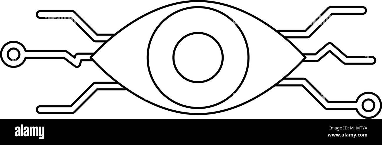 Bionic Eye Symbol Stock Vector Art Illustration Vector Image