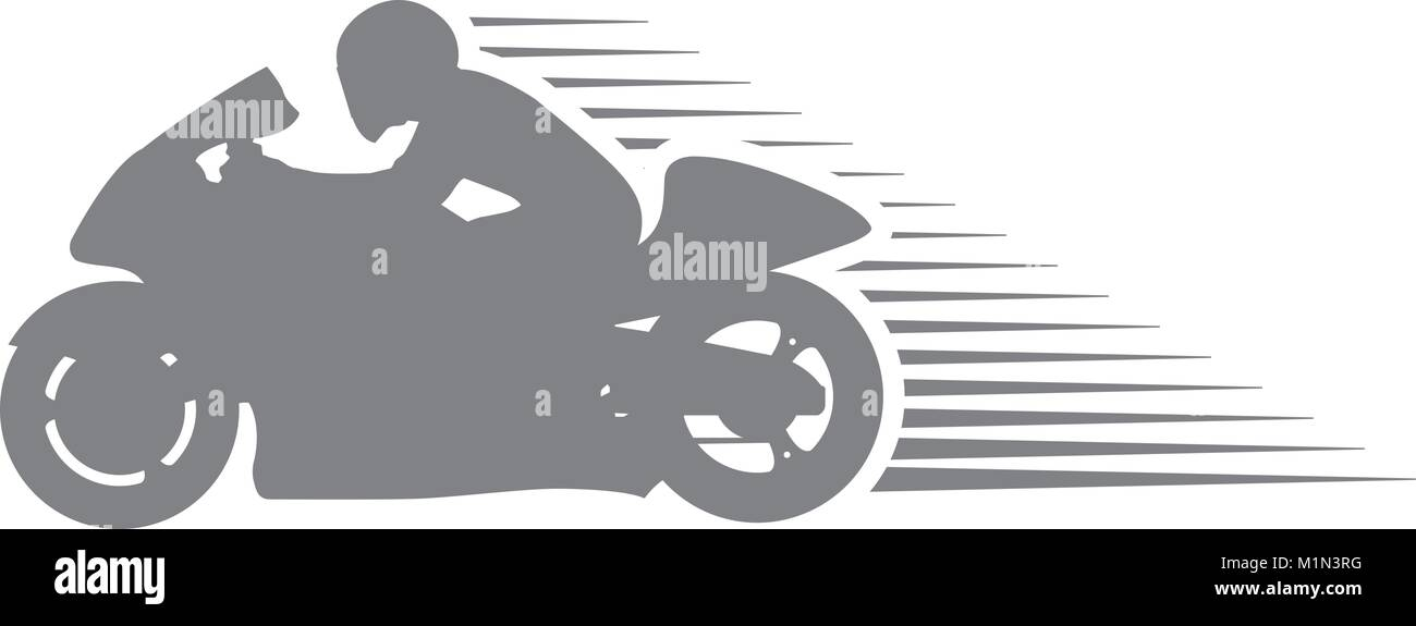 Motorcyclist On Sport Motorcycle Racing Sportsbike Silhouette