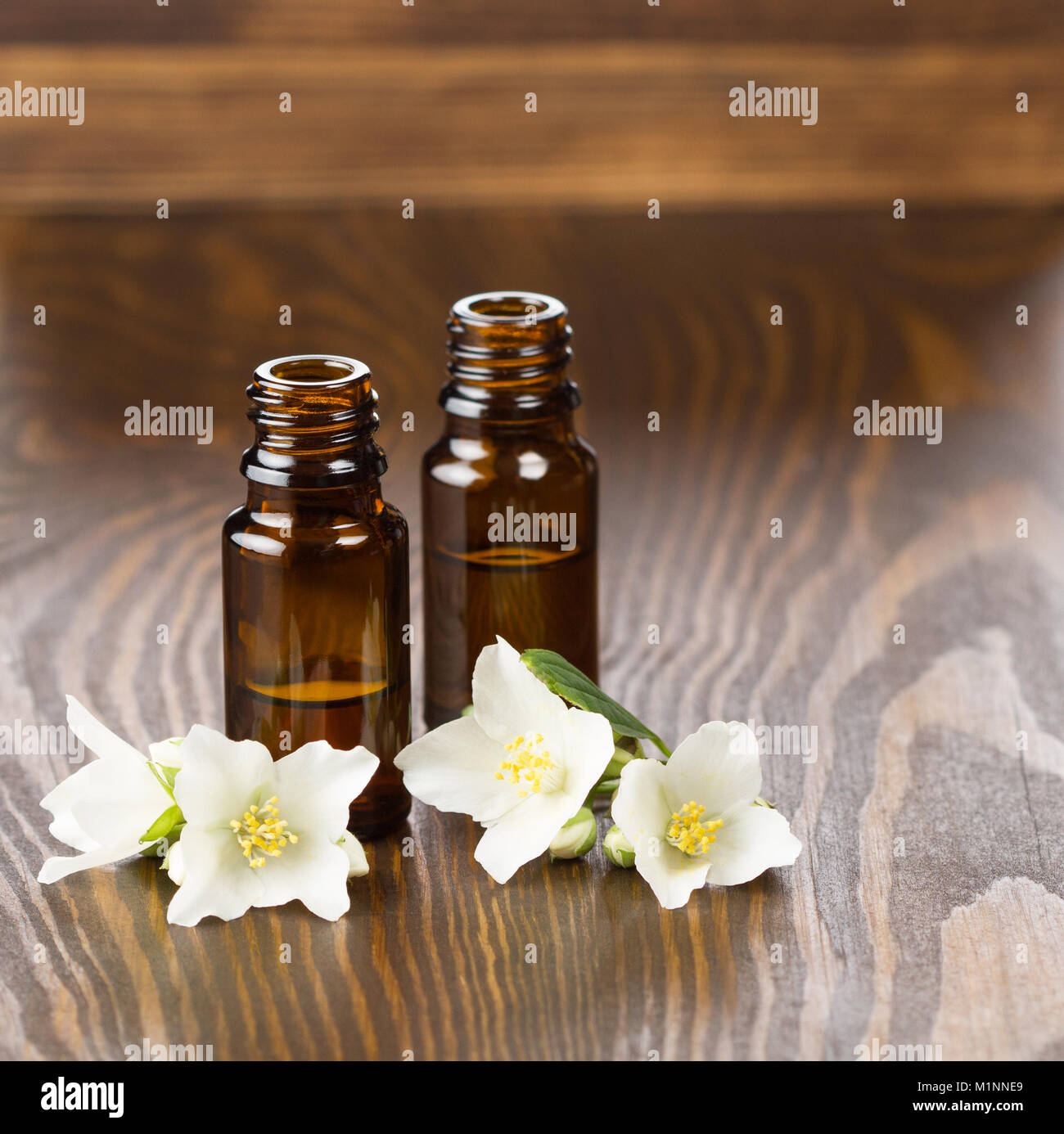Jasmine Essential Oil And Jasmine Flowers Stock Photo 173196193 Alamy