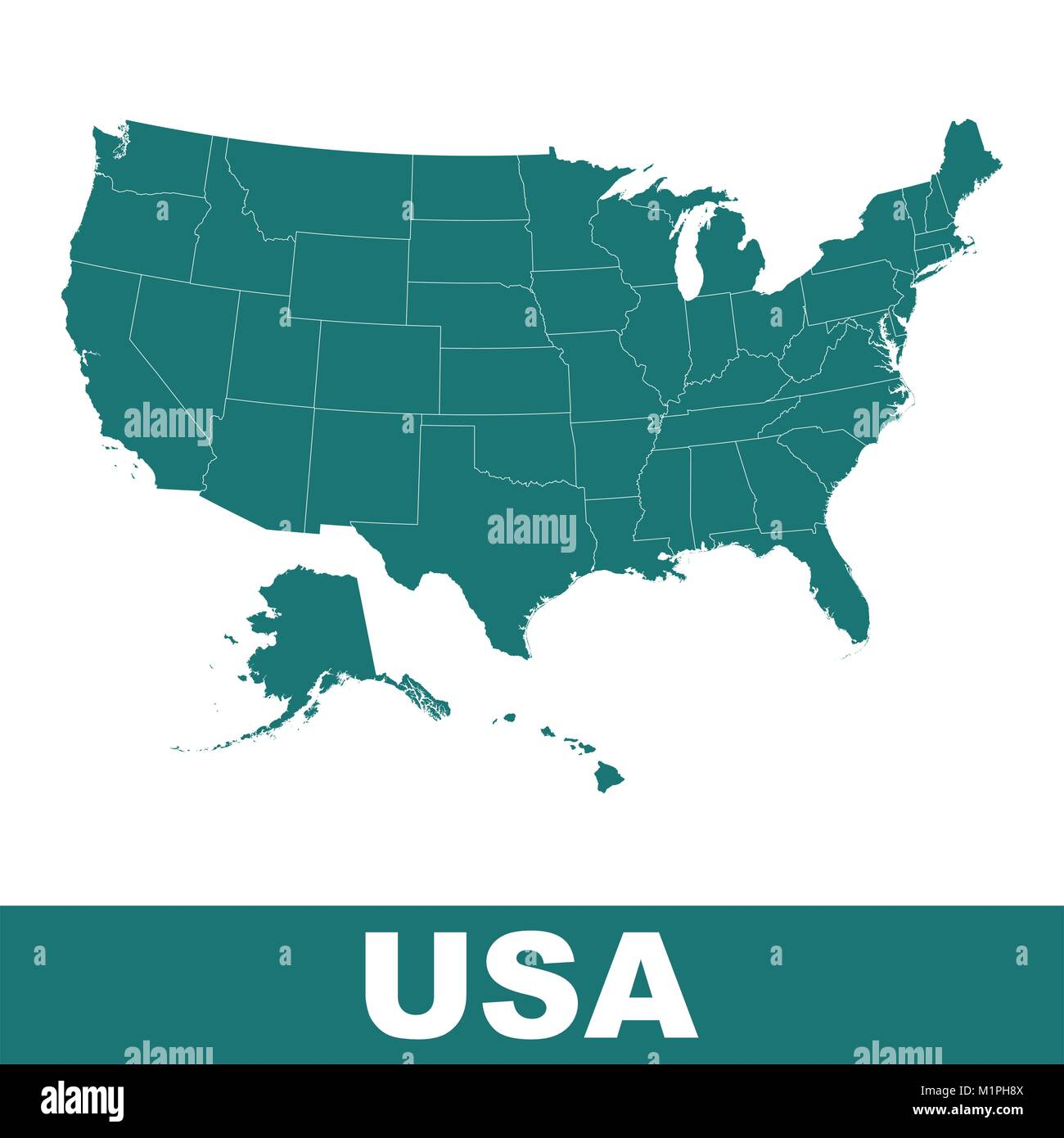 Images of a map of the united states san francisco street map united states map alaska and hawaii stock photos united states high detailed vector map united states sciox Choice Image