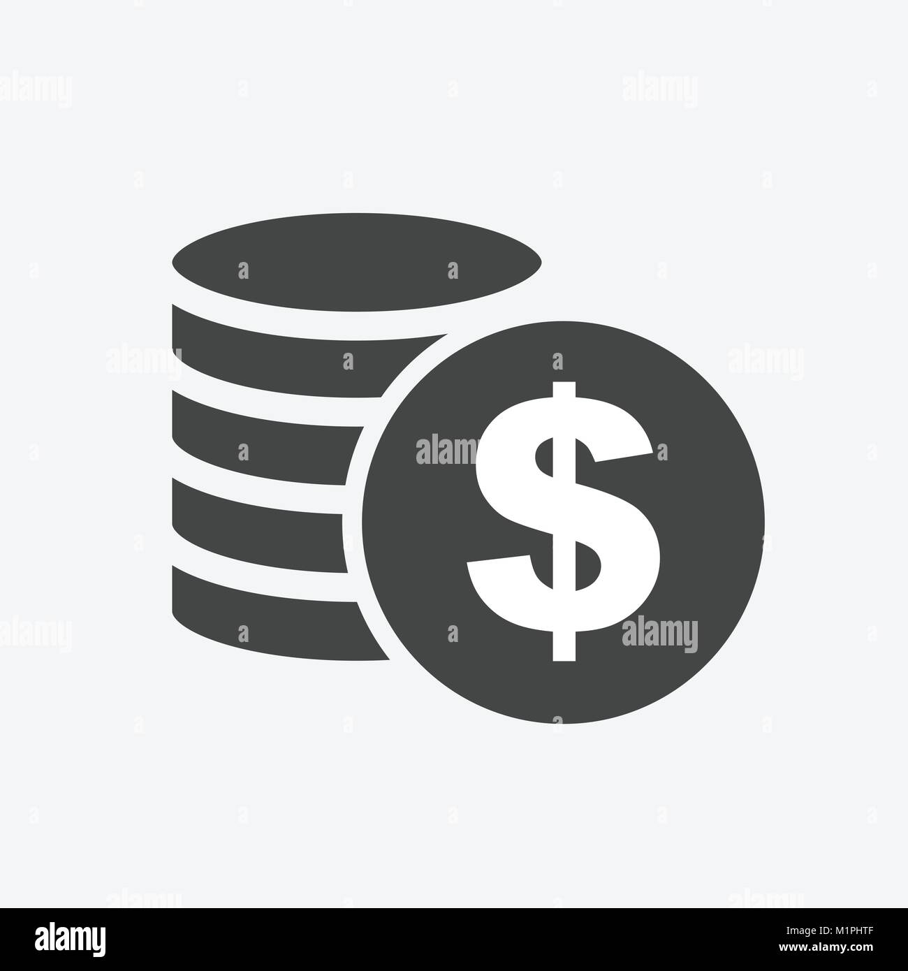 money silhouette icon on white background coins vector illustration