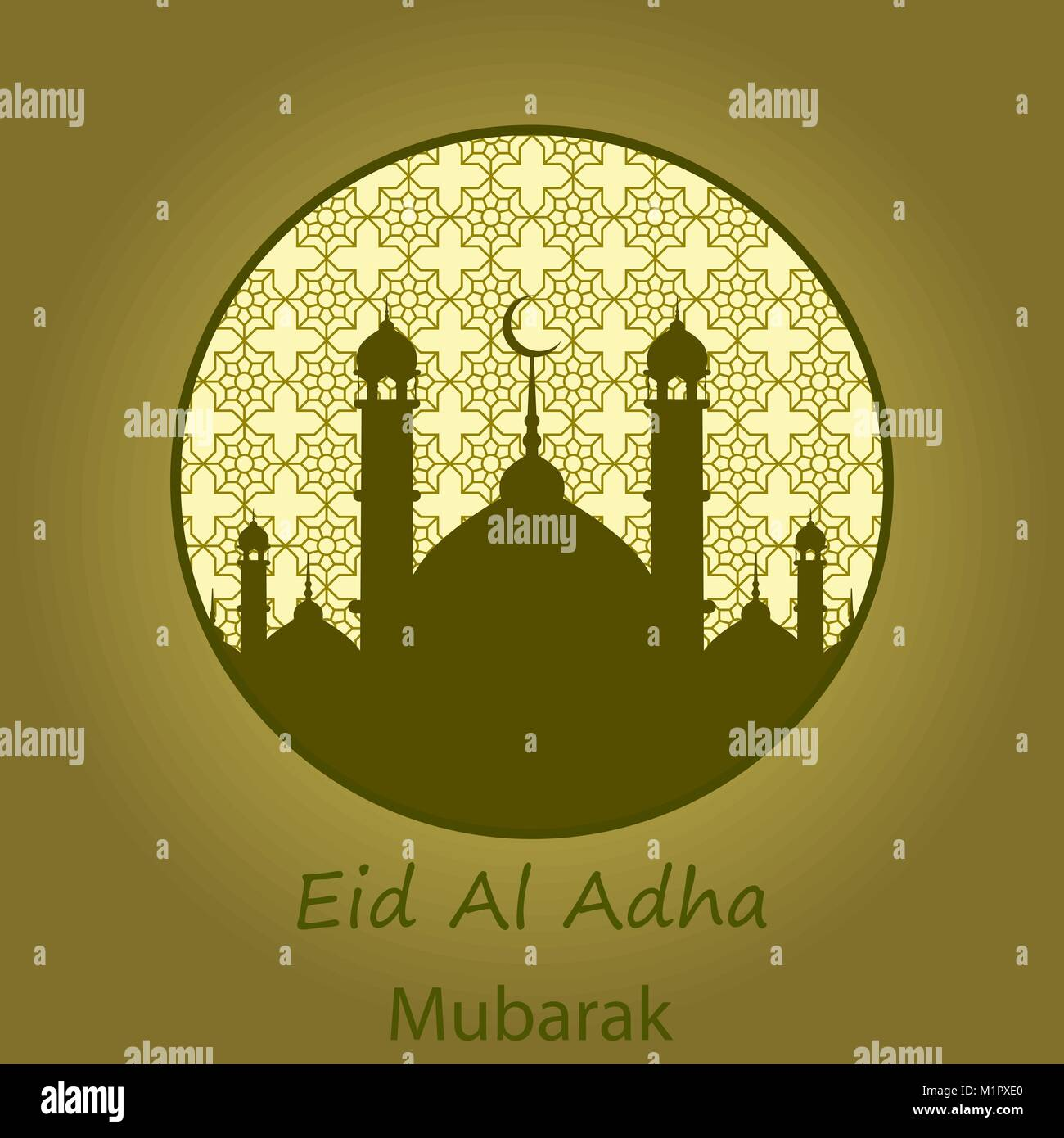 Islamic festival of sacrifice eid al adha mubarak greeting card islamic festival of sacrifice eid al adha mubarak greeting card vector background m4hsunfo