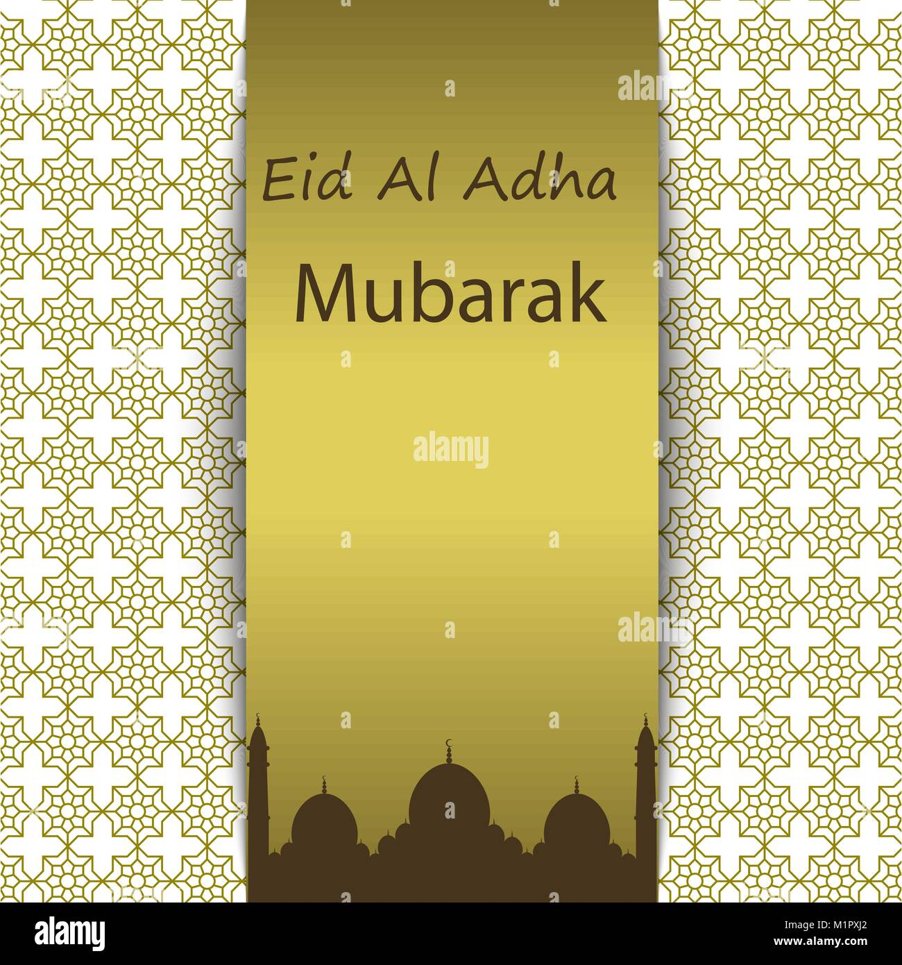 Islamic Festival Of Sacrifice Eid Al Adha Mubarak Greeting Card