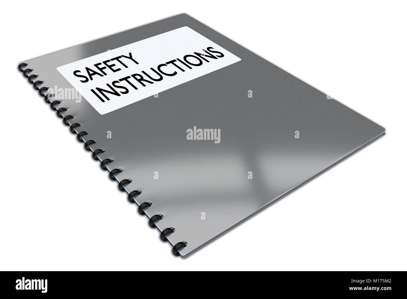3d Illustration Of Safety Instructions Script On A Booklet Isolated