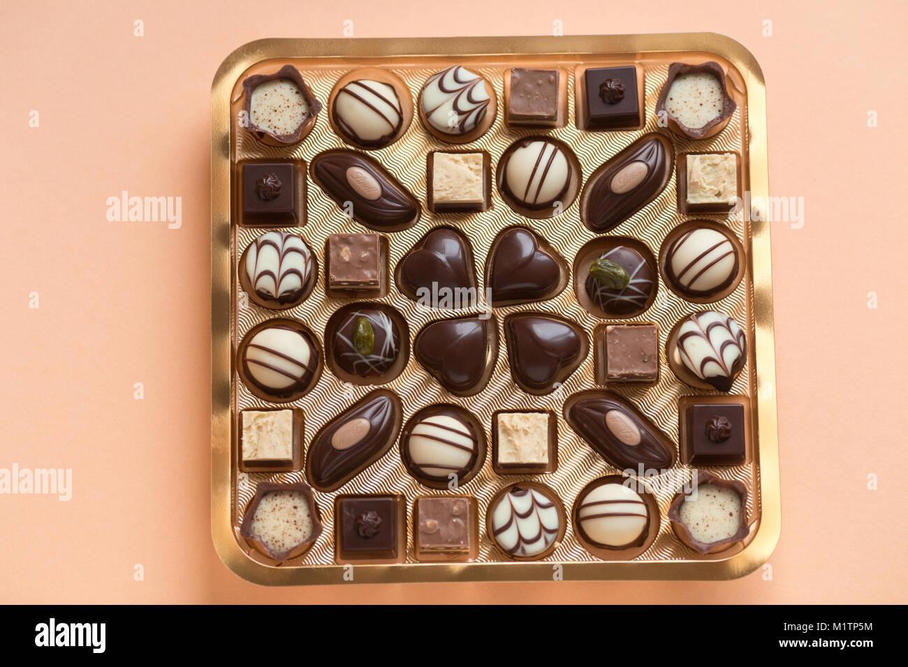 Beautiful Design Chocolates In Nice Box Stock Photo 173262592 Alamy