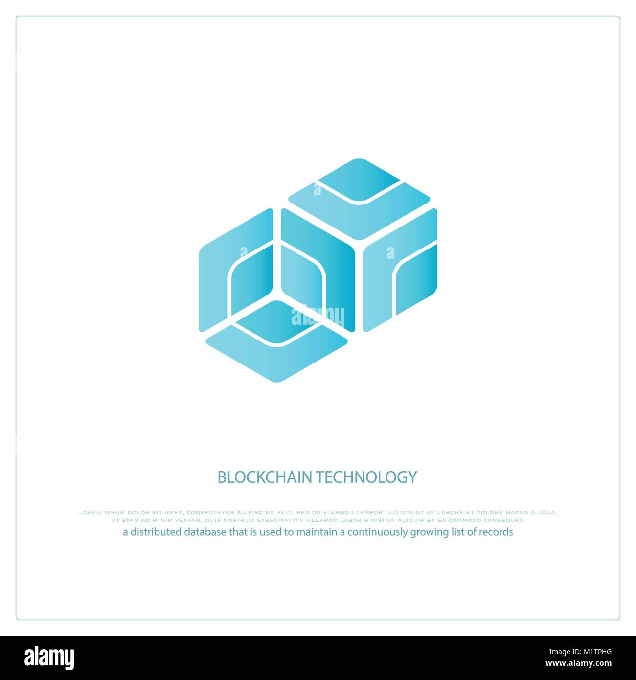 blockchain technology icon vector smart contract block isolated