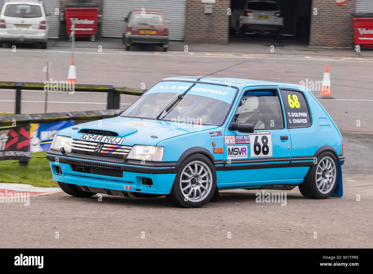 Peugeot 205 Gti With Driver Ivan Chafer And Co Driver Terry Dolphin