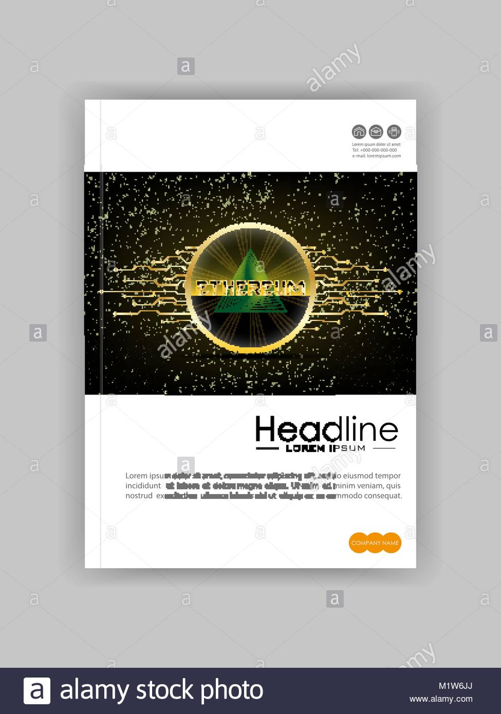 a4 brochure cover design ad banner for financial report ethereum