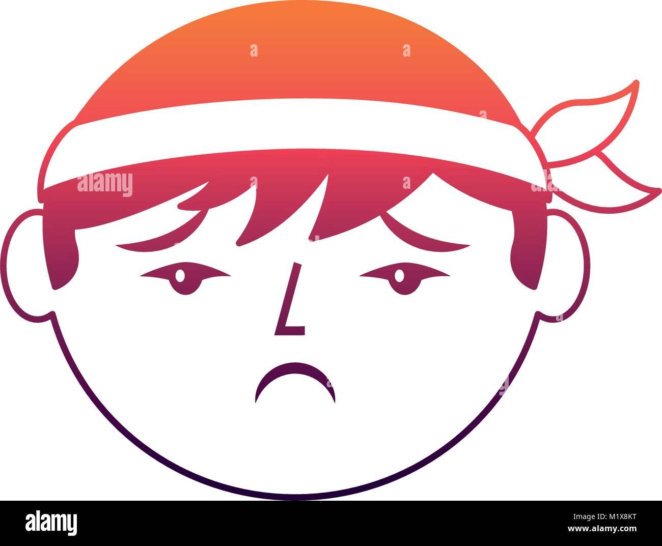 Cartoon sad face chinese man stock vector art illustration vector cartoon sad face chinese man voltagebd Images