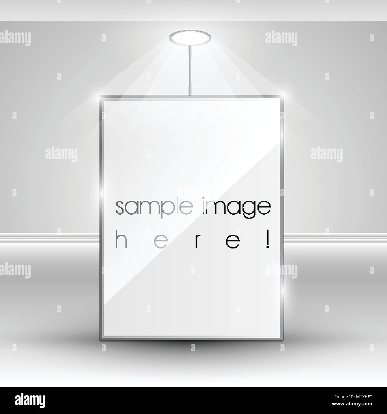 Vector blank banner display template Stock Vector Art