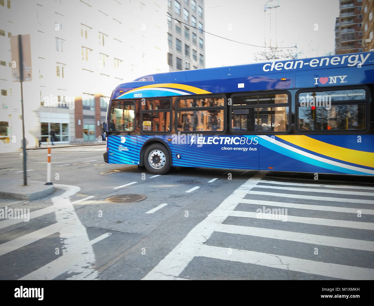 Zebra Crossing Bus Stop Stock Photos New Flyer Wiring Diagram One Of 10 All Electric Manufactured Test Buses Travels