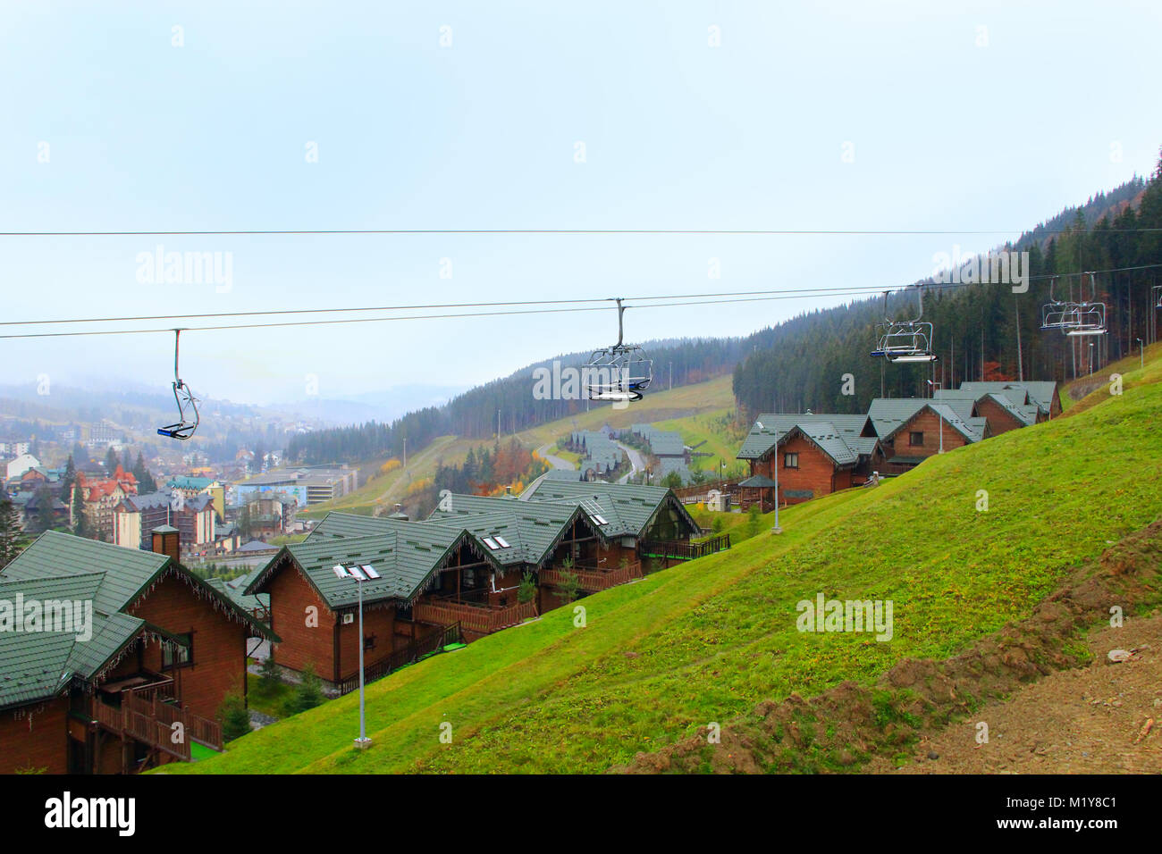 bukovel resort in ivano-frankivsk region ukraine with funicular and