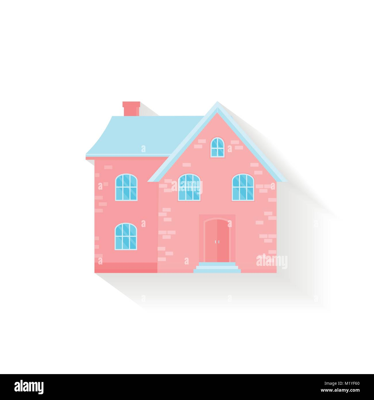 Modern icon with cozy home, house, cottage with shadow. Smart Stock ...