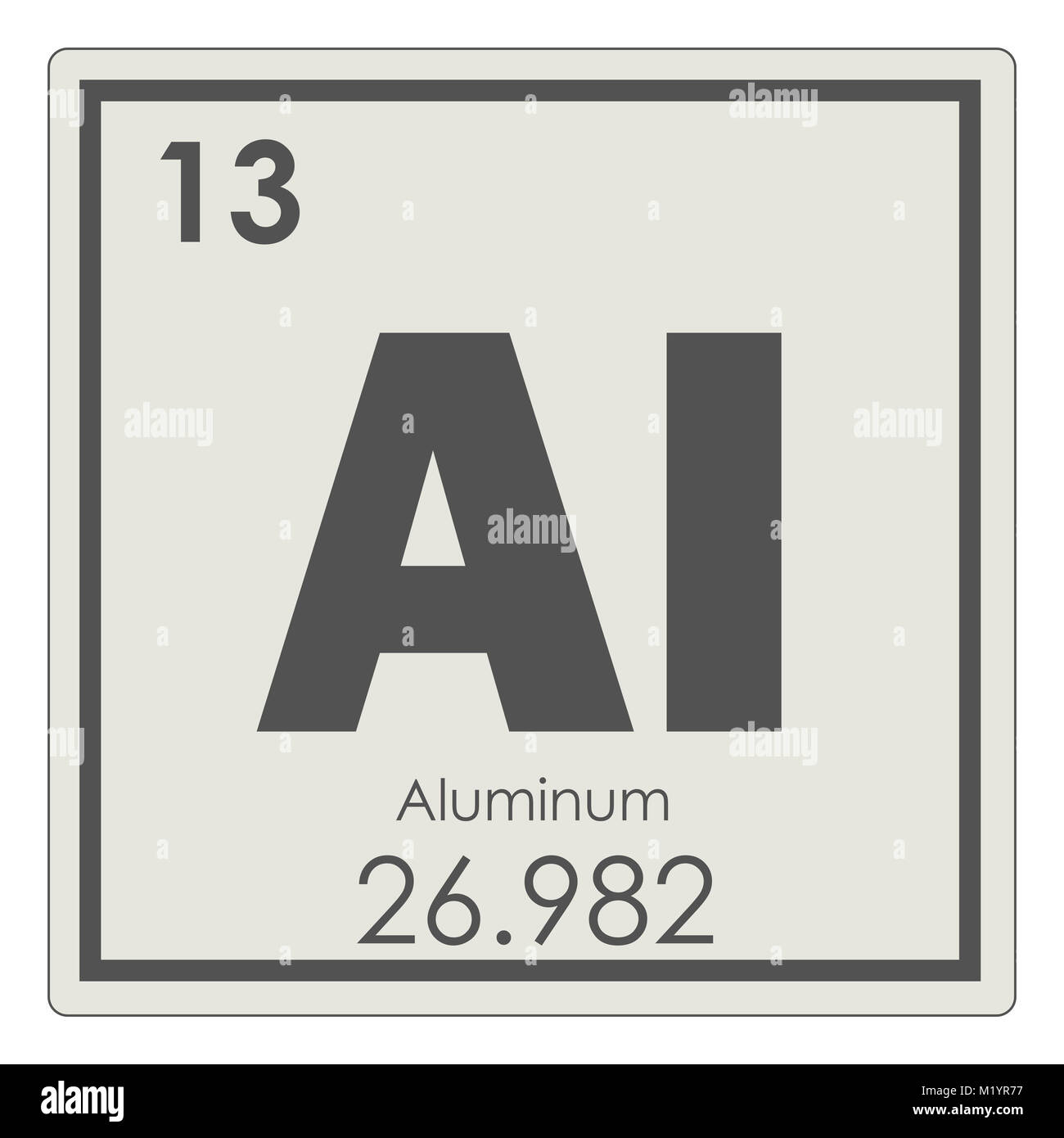 Aluminum chemical element periodic table science symbol stock photo aluminum chemical element periodic table science symbol urtaz Choice Image