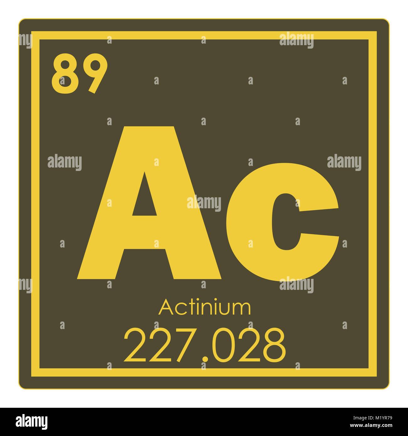 Actinium Chemical Element Periodic Table Science Symbol Stock Photo
