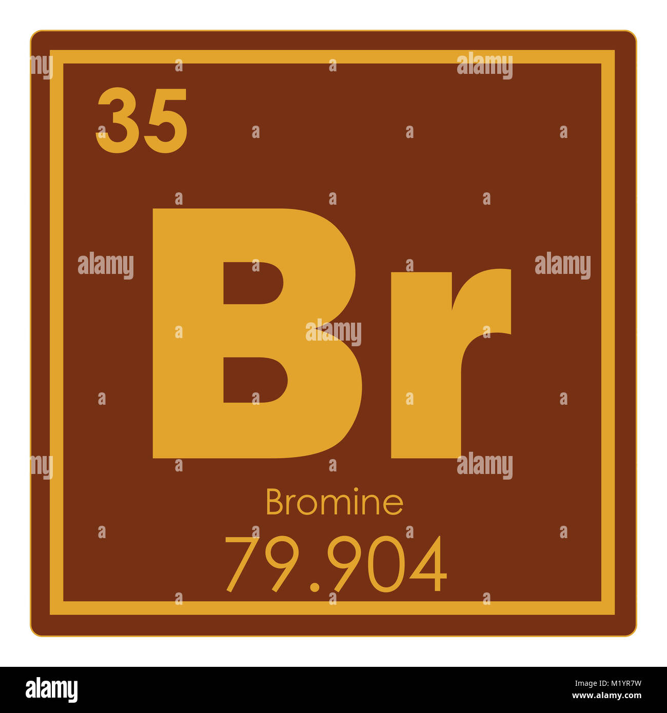 Bromine chemical element periodic table science symbol stock photo bromine chemical element periodic table science symbol biocorpaavc