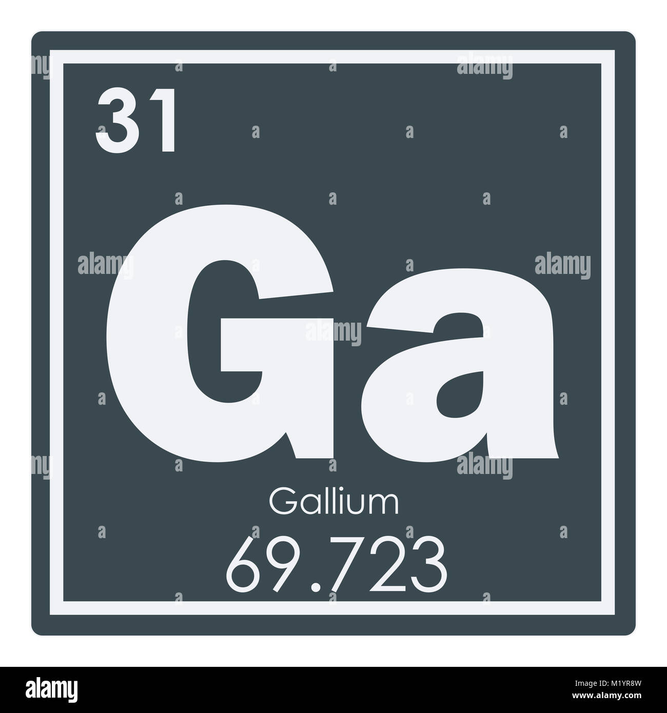 Gallium chemical element periodic table science symbol stock photo gallium chemical element periodic table science symbol urtaz Images