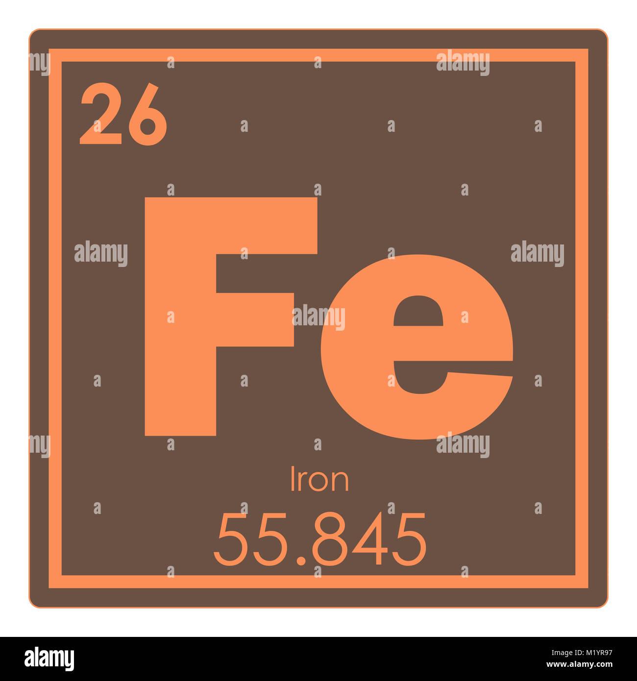 Iron chemical element stock photos iron chemical element stock iron chemical element periodic table science symbol stock image buycottarizona Image collections