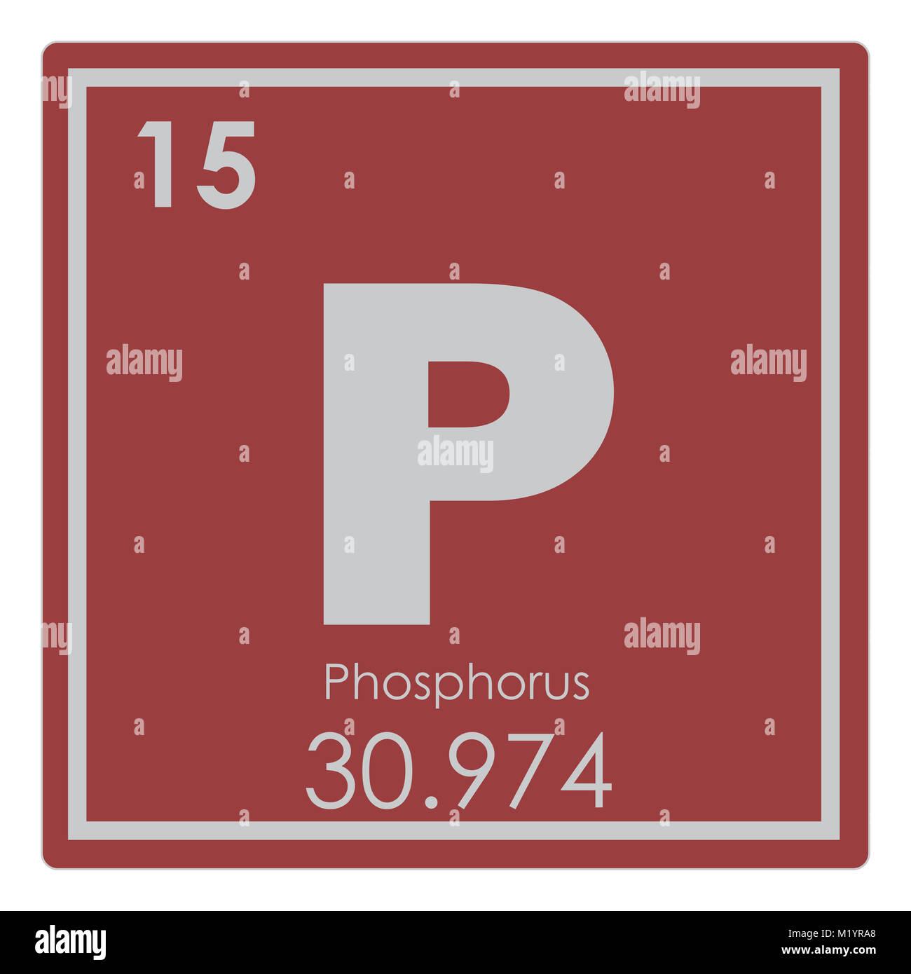 Phosphorus Chemical Element Periodic Table Science Symbol Stock