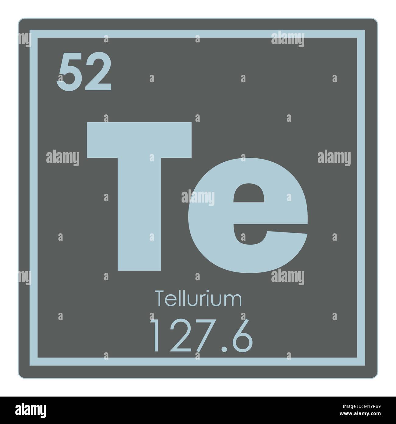 Tellurium chemical element periodic table science symbol stock tellurium chemical element periodic table science symbol buycottarizona
