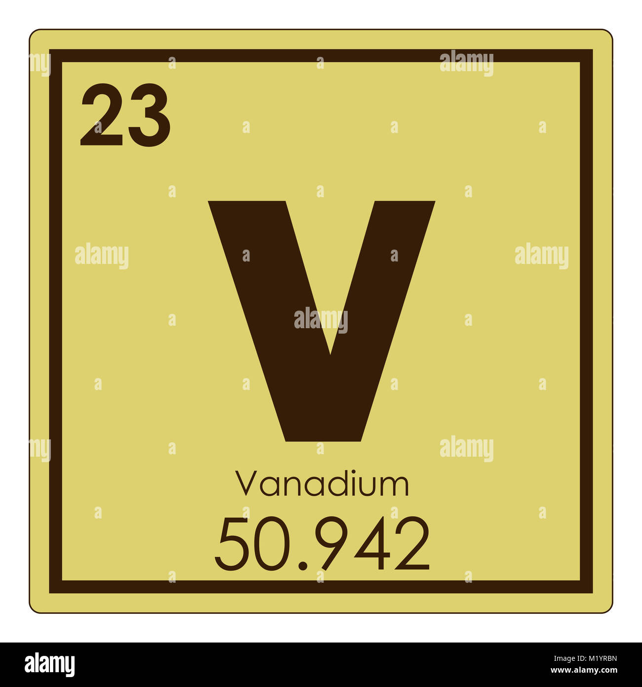 Symbol chemical element vanadium stock photos symbol - Vanadium symbol periodic table ...