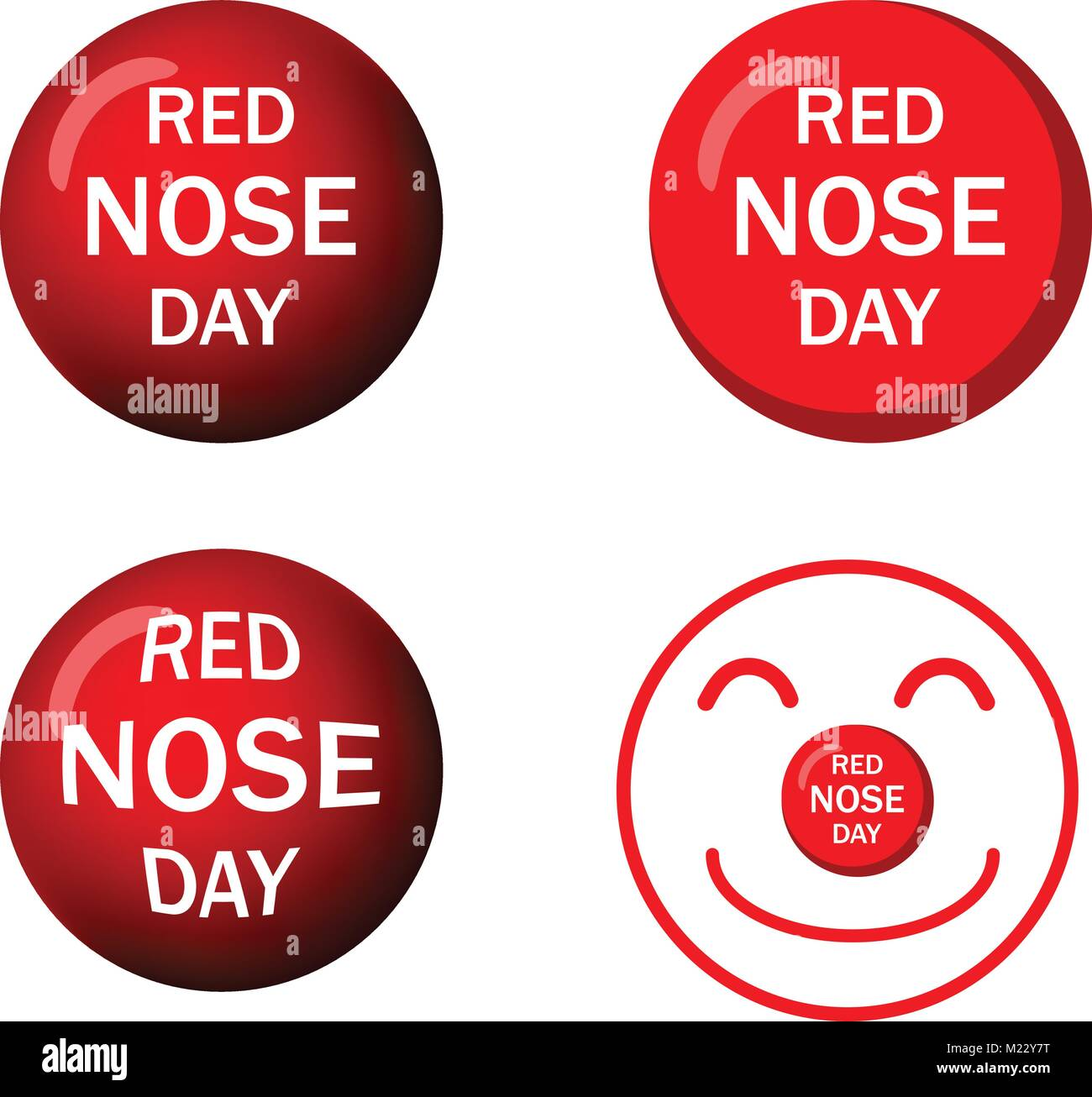 Clown Nose Cut Out Stock Images & Pictures