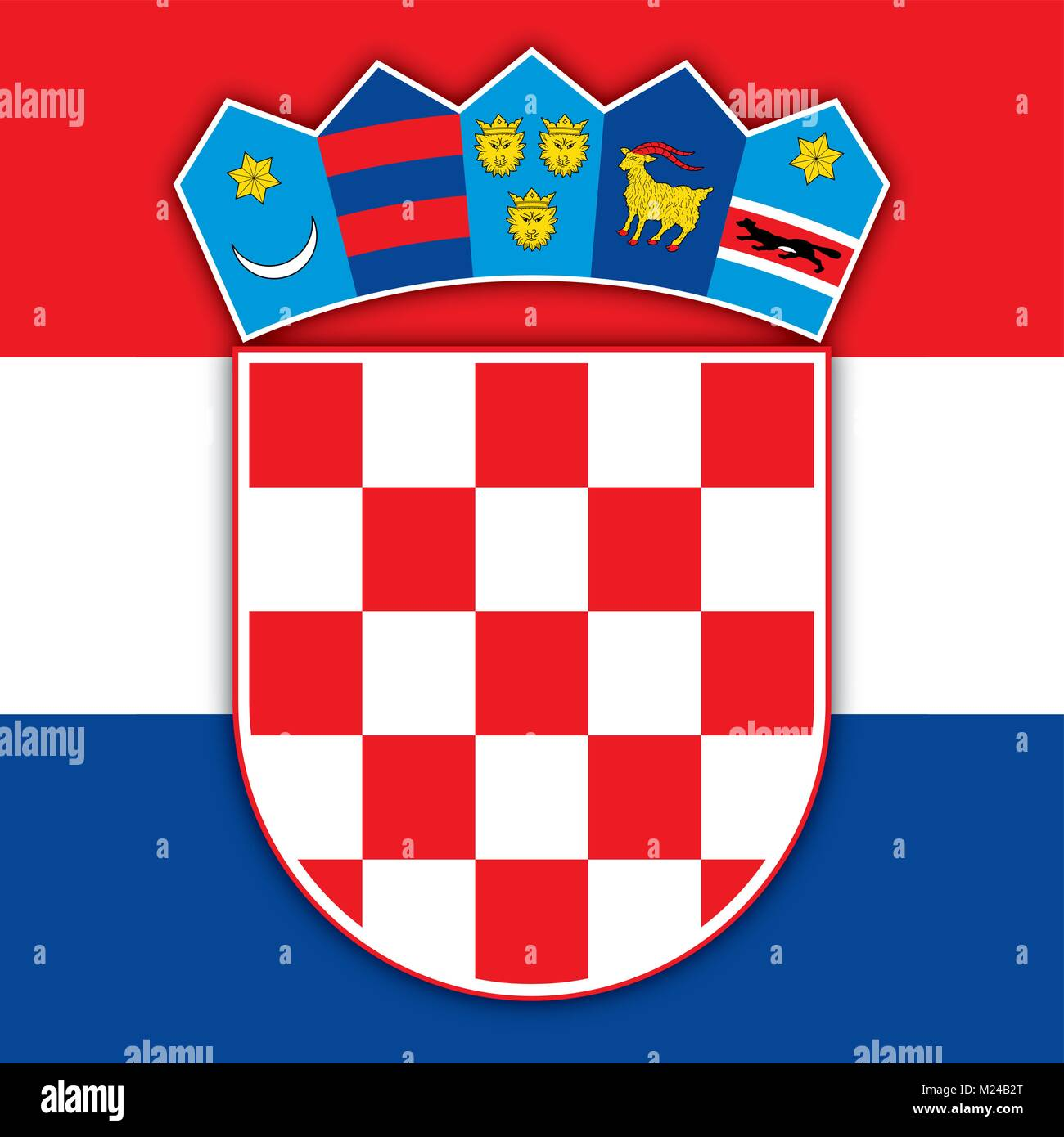 Croatia coat of arms and flag official symbols of the nation stock croatia coat of arms and flag official symbols of the nation biocorpaavc Images