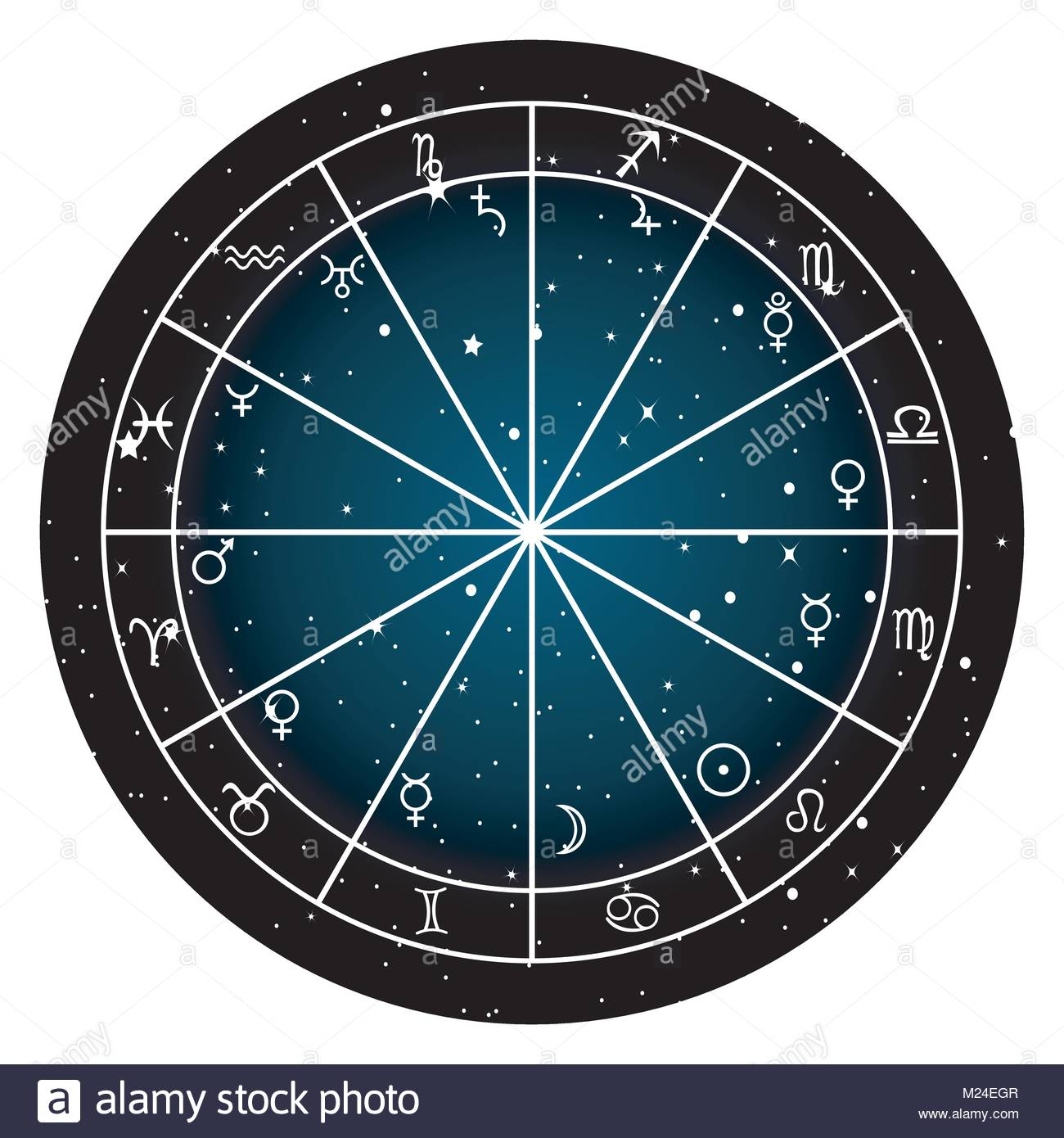 Horoscope chart stock photos horoscope chart stock images alamy astrology zodiac with natal chart zodiac signs and planets stock image nvjuhfo Gallery