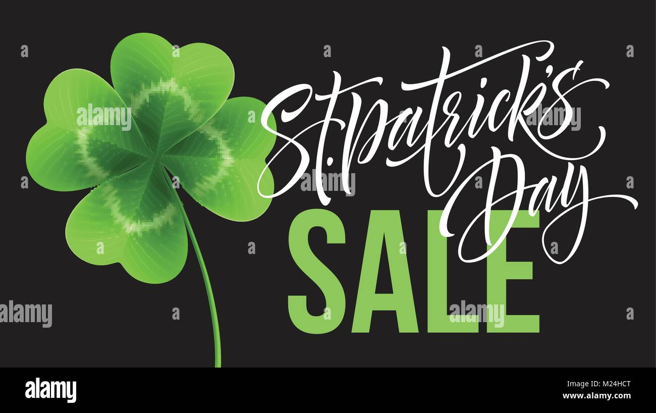 saint patricks day sale poster lettering typography banner template