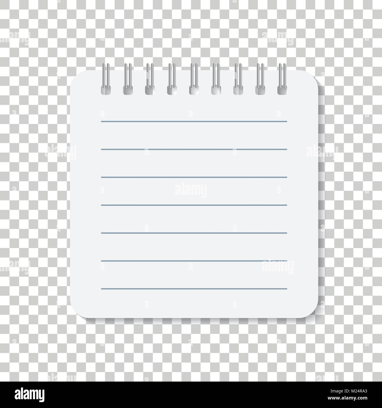 Realistic template notepad with spiral. Blank cover design. School ...
