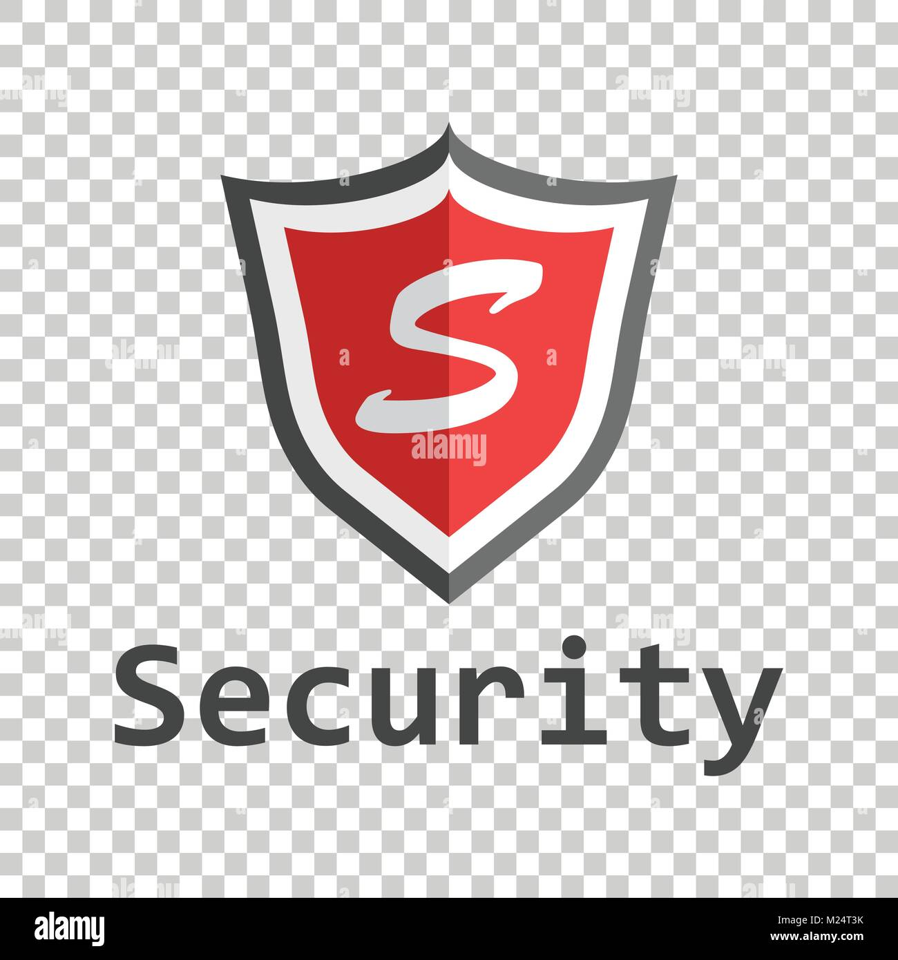 Red shield logo vector illustration in flat style with word stock vector illustration in flat style with word security buycottarizona