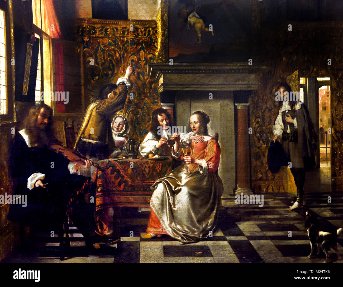 Merry Company 1663 Pieter de Hooch !629-1684 Dutch Netherlands